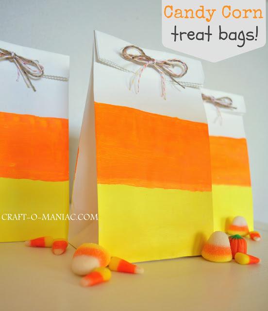 candy corn treat bags