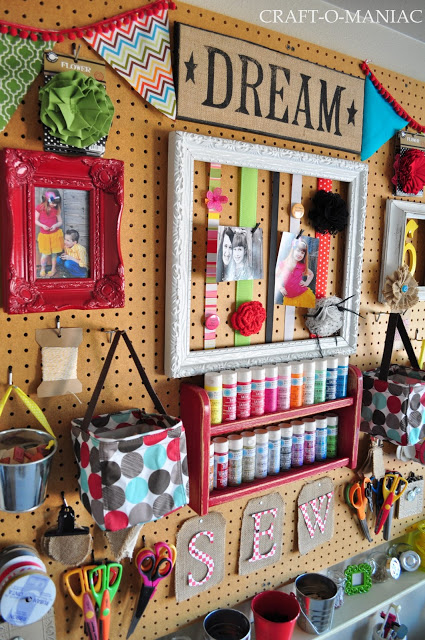 craft room wall reveal