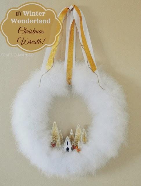 feather boa christmas wreath