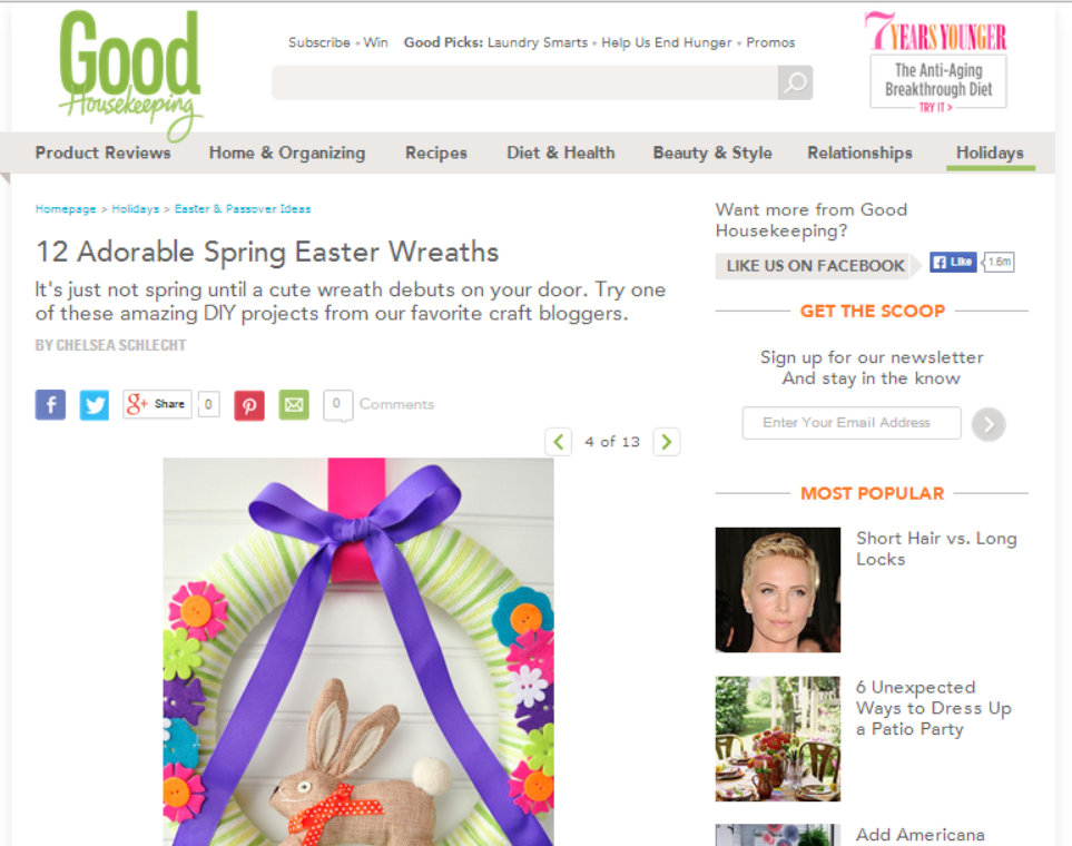 diy yarn and bunny wreath