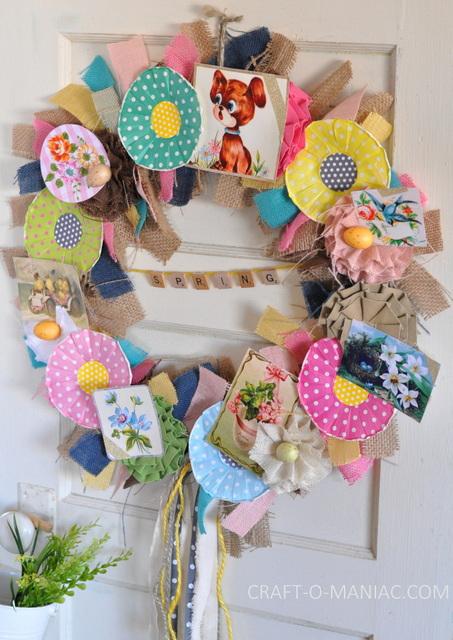 DIY Vintage Spring Burlap Wreath11-001