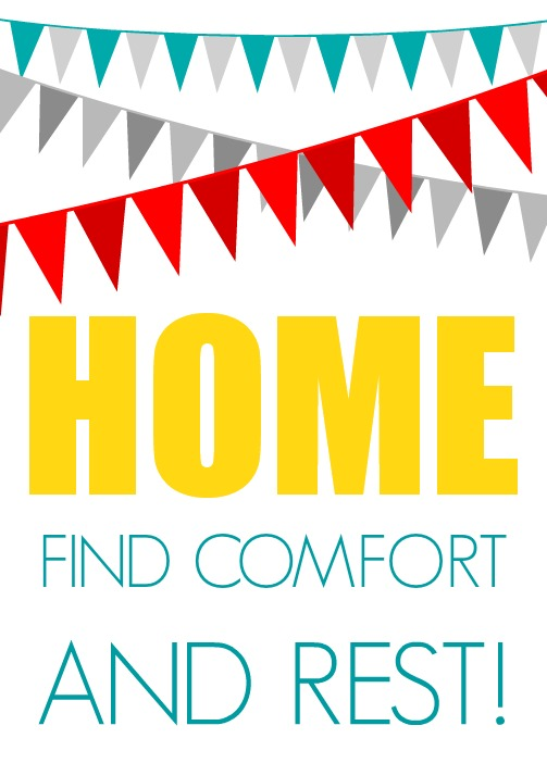 Home printable red
