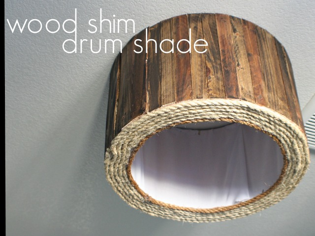 Wood project wood-shim-drum-shade-diy-ceiling-mount-fixture