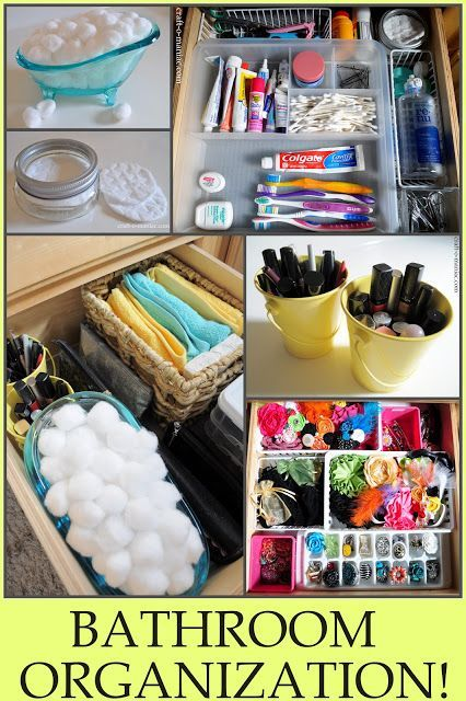 Bathroom drawer organization