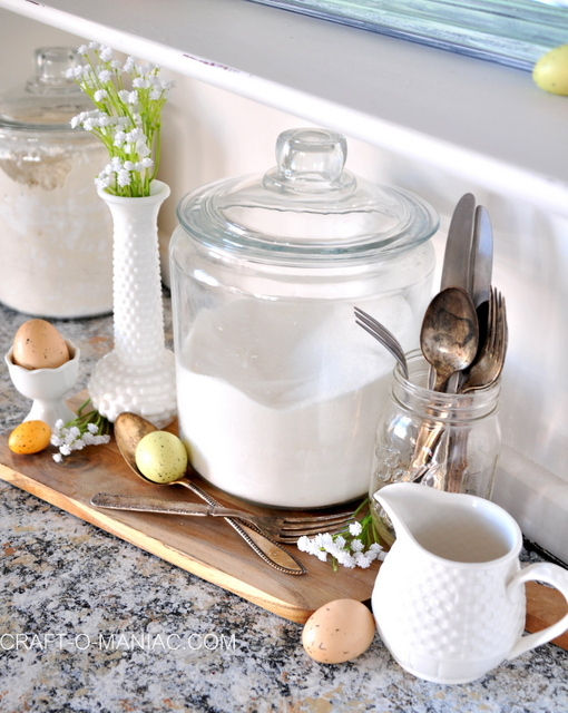 easter hutch suger dishes