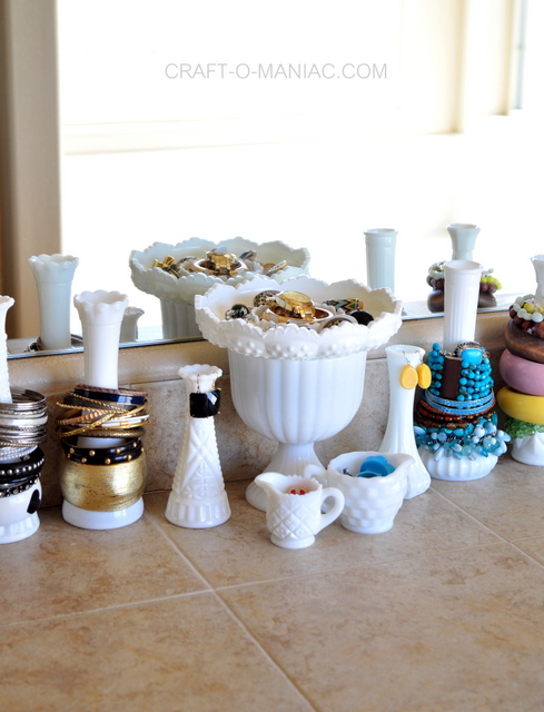 milk glass jewelry organization11