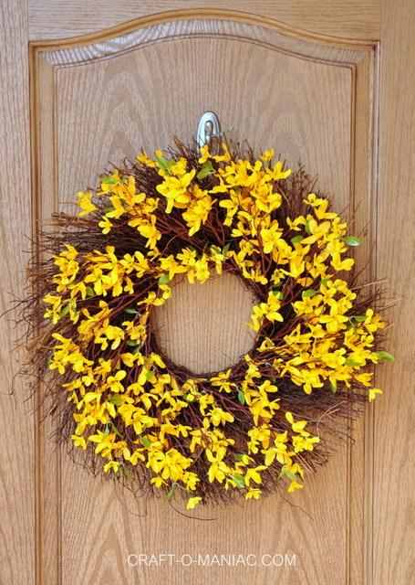spring porch wreath