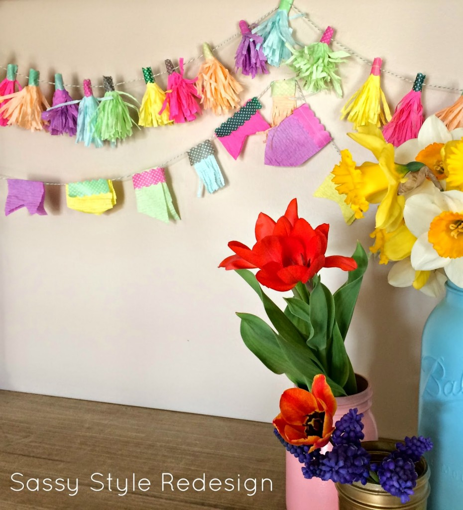 easy craft papertowl garland