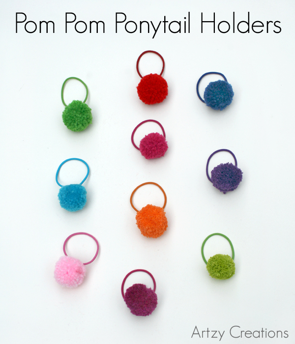 easy crafts Pom-Pom-Poytail-Holder_FI