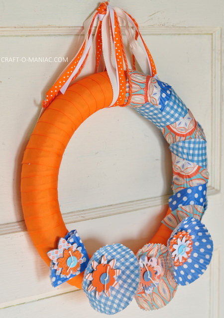 ribbon and cupcake liner wreath12