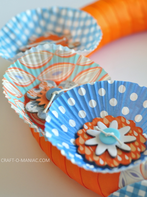 ribbon and cupcake liner wreath3