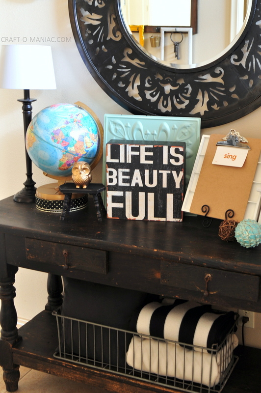 vintage eclectic entry table com