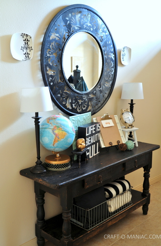 vintage eclectic entry table full side com