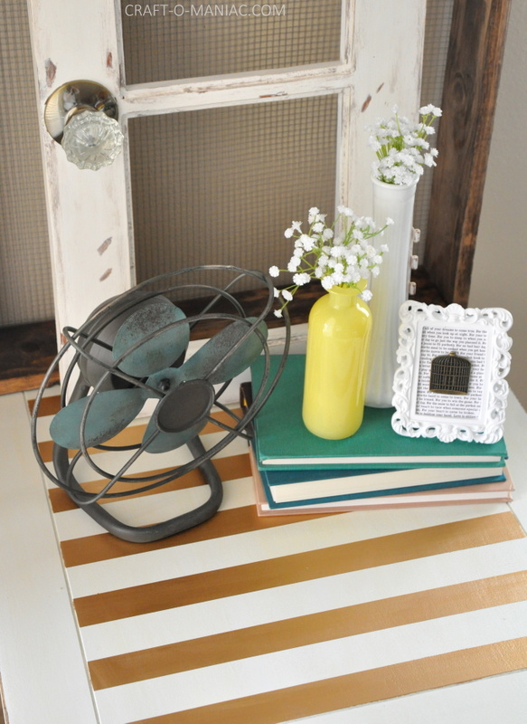 white end table with decor2
