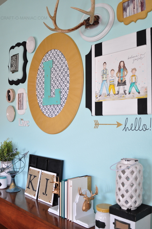 family room gallery wall side1