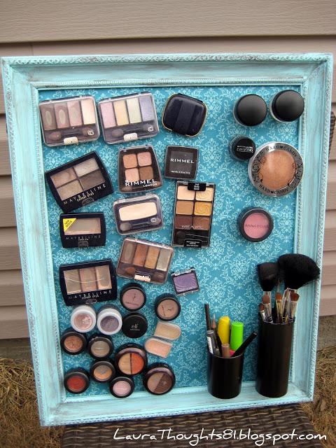 organization diy makeup magnet frame
