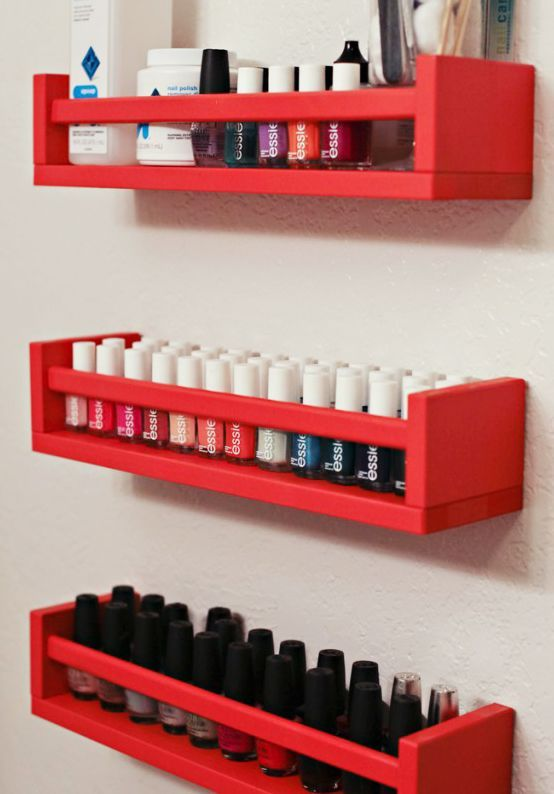 organization diy nail polish racks