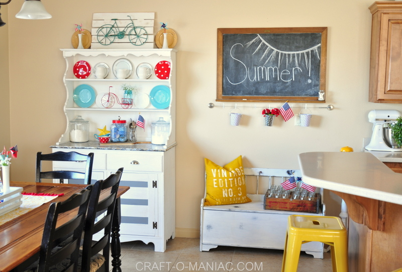 Americana Themed Kitchen Decor: Summer Patriotic Kitchen ...