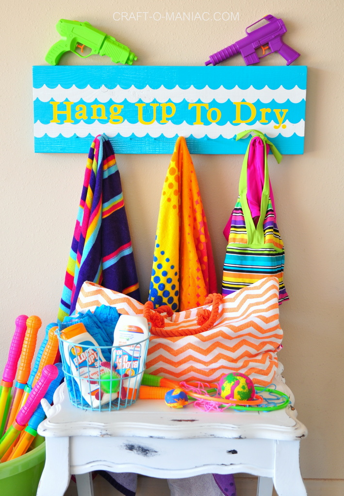 diy summer hang up to dry board 6
