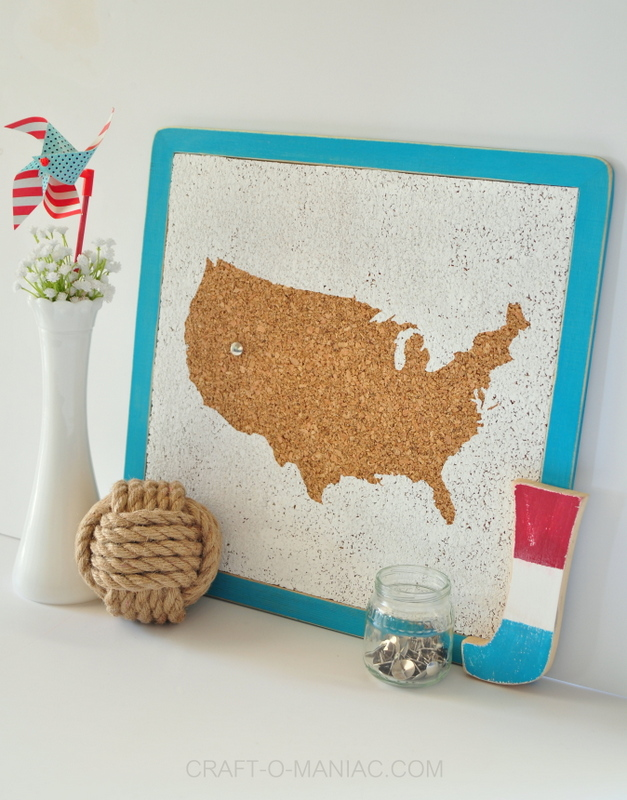 diy usa cork board side