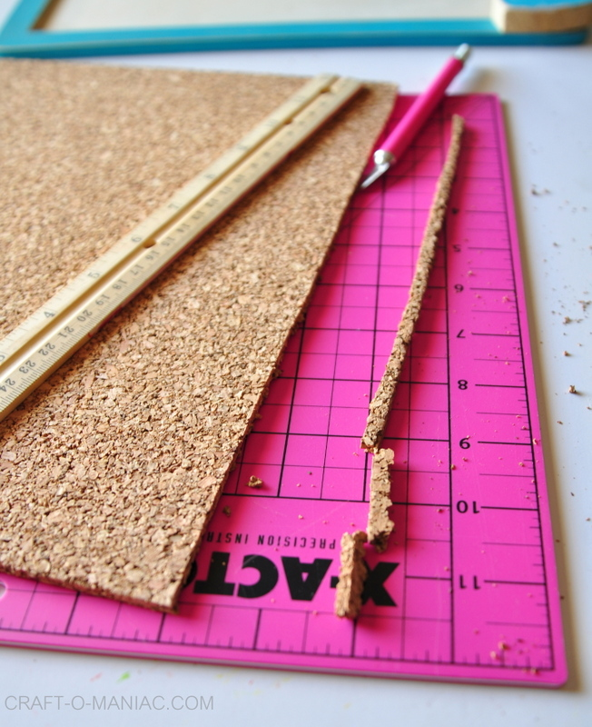 diy use cork board trimmed