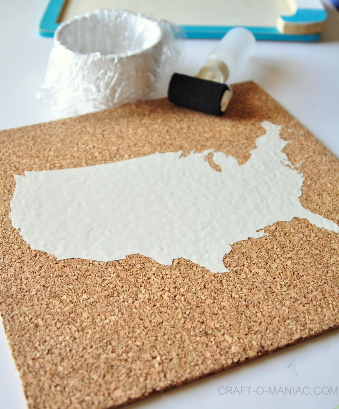 diy use cork board vinyl on