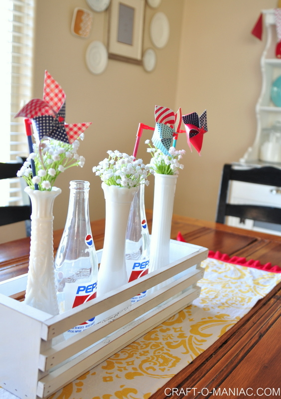 patriotic pin-wheel-flower vases-