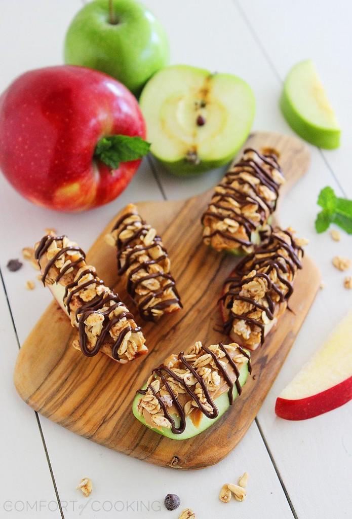 summer snack Chocolate Peanut Butter Granola AppleBites