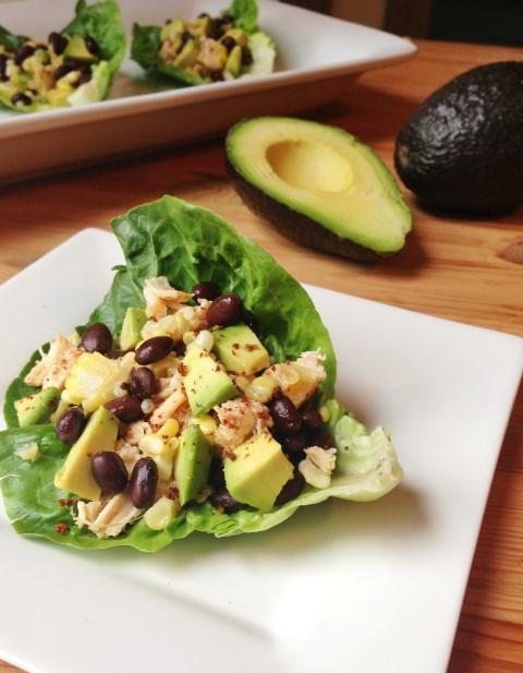 summer snacks lettuce wraps