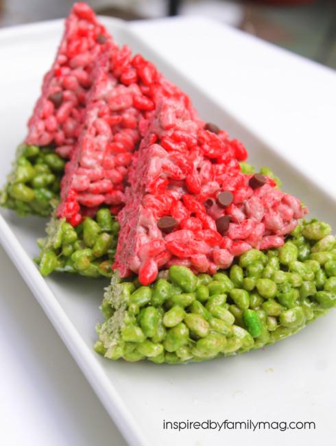 watermelon rice krispies