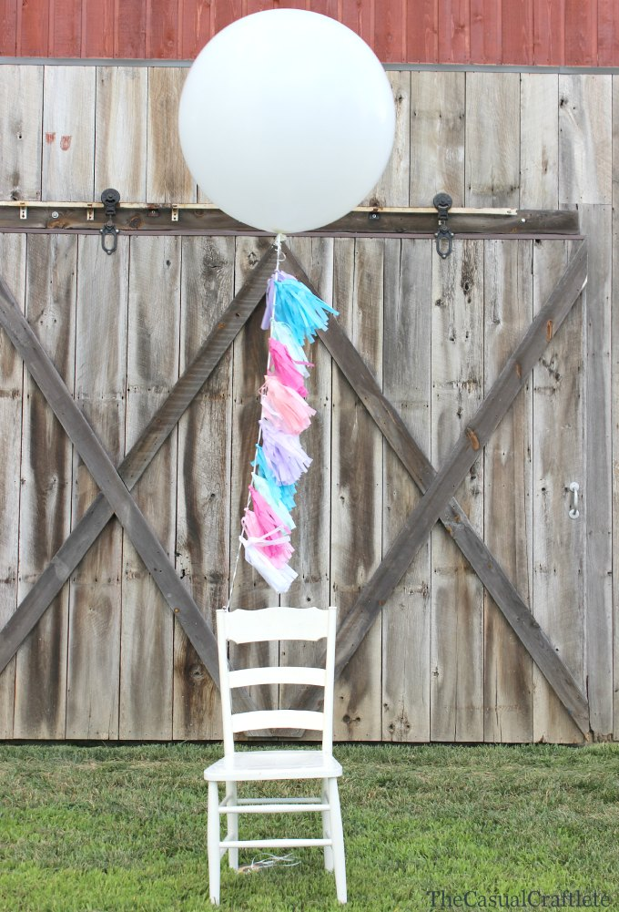 cc round up tissue paper garland