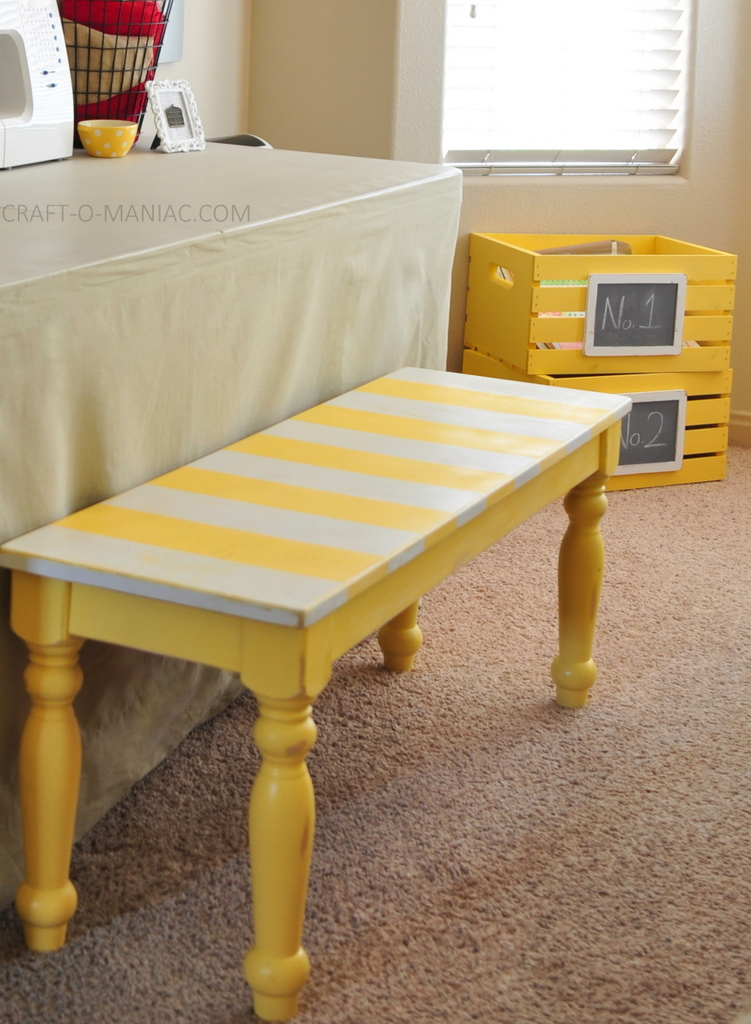 craft room makeover bench love