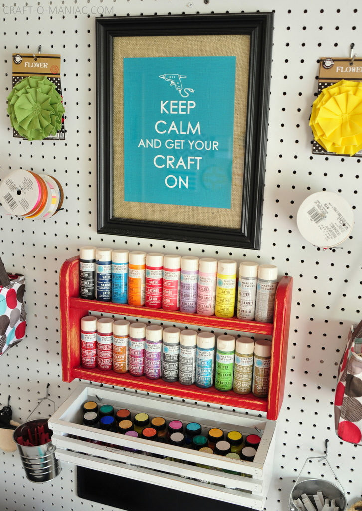 craft room makeover craft peg board1