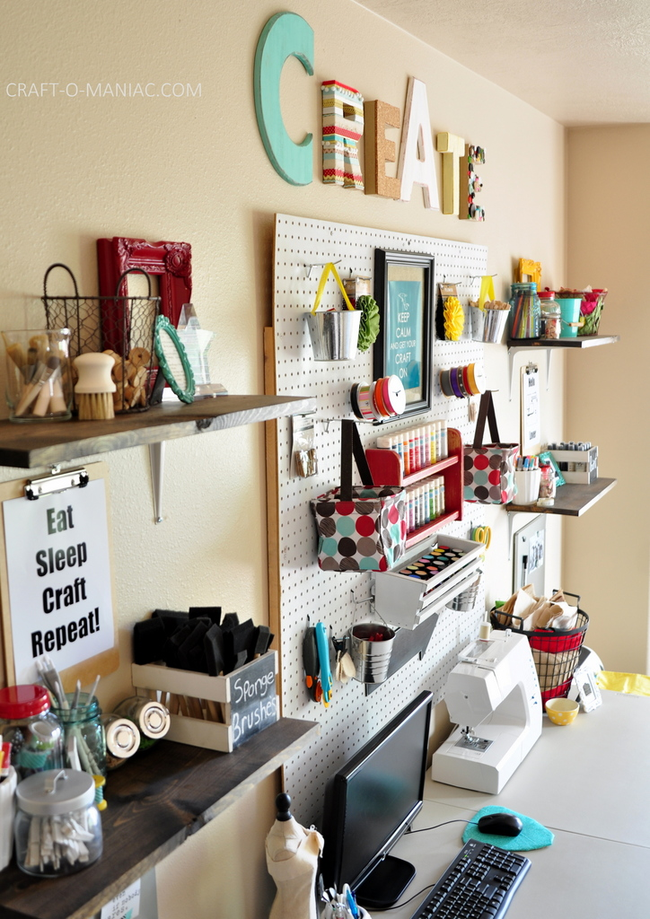 craft room makeover whites and brights side2