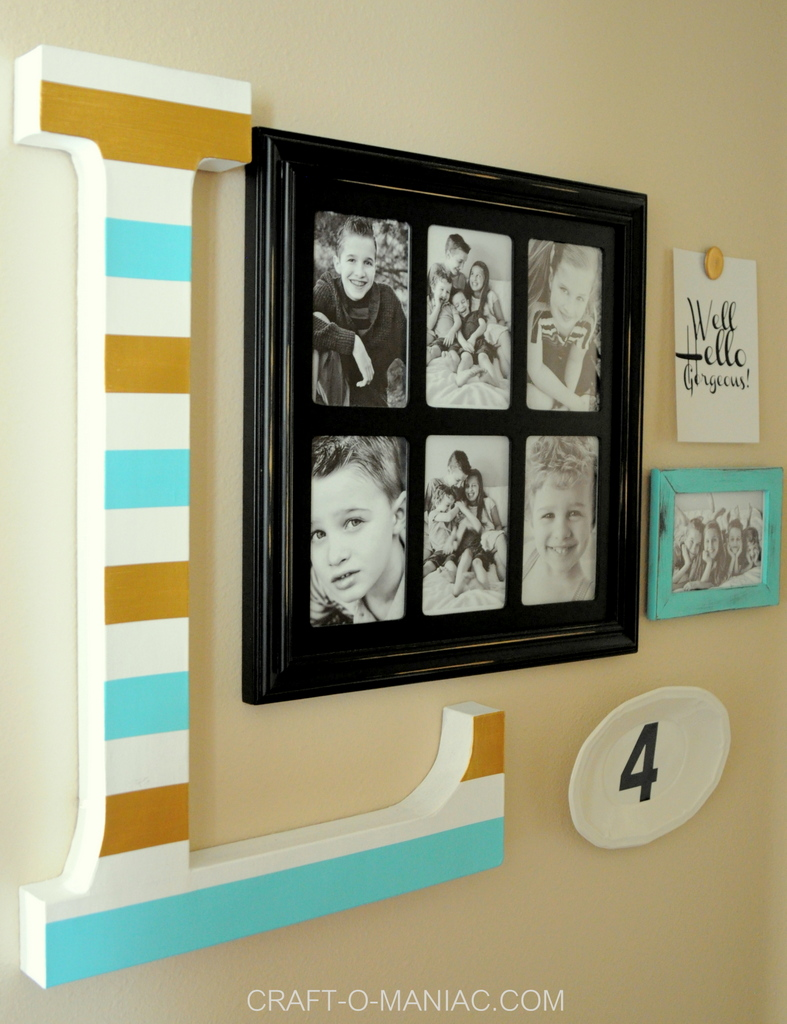 diy 10 minute gallery wall 8