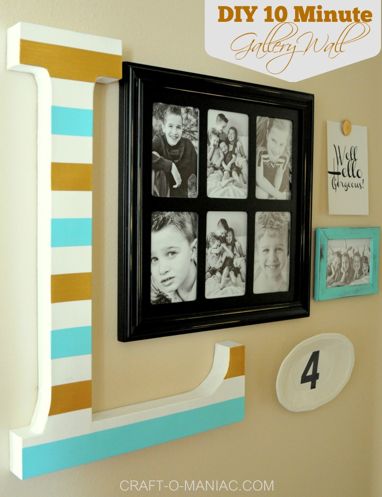 diy 10 minute gallery wall pm