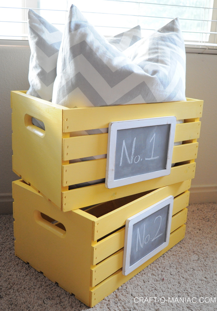 diy  painted and chalkboard embellished crates 7-001