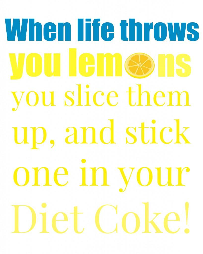 lemons diet coke blue and yellow