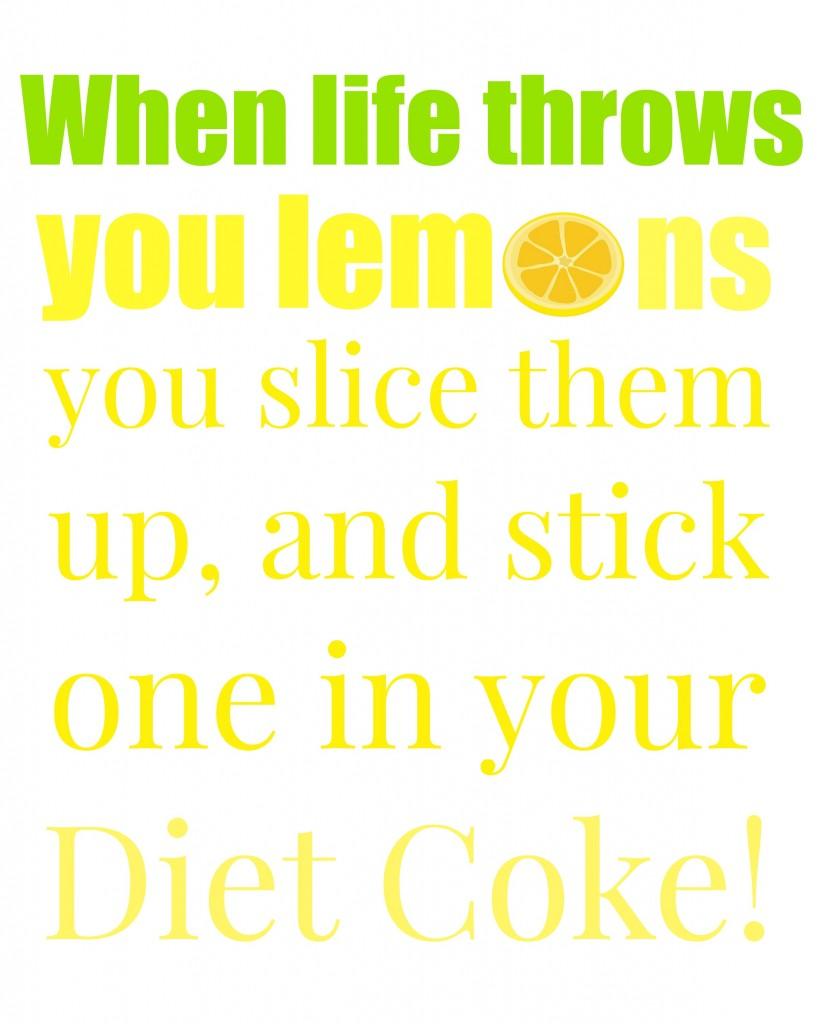 lemons diet coke green yellow