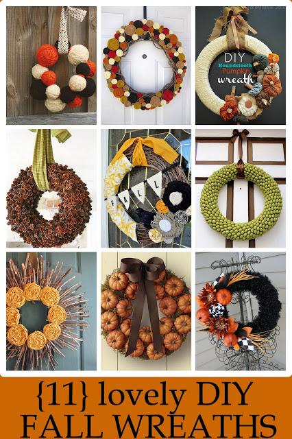 11 lovely fall wreaths