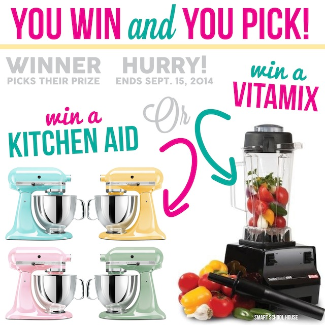 Vitamix or Kitchen aid mixer  giveaway