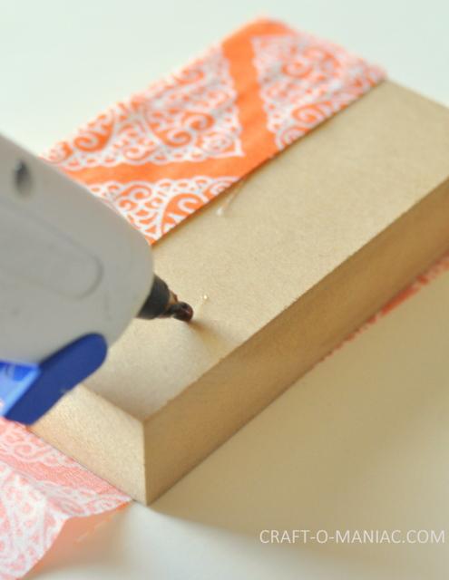 fabric scrap wood pumpkins 6