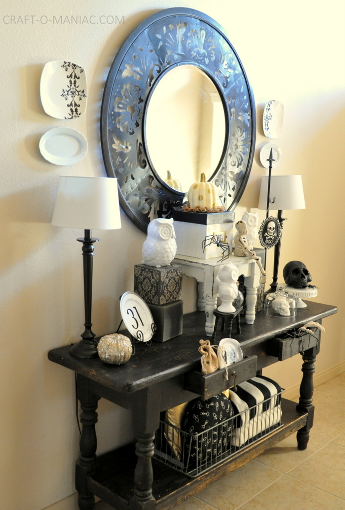 black and white halloween decor full1