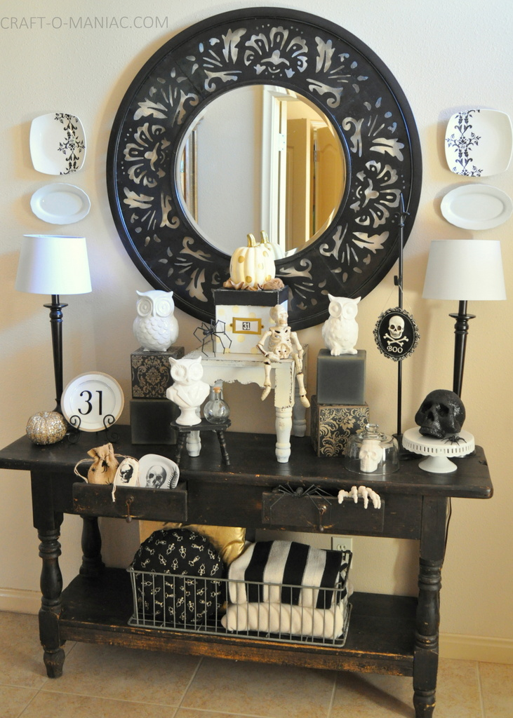 black and white halloween decor full3