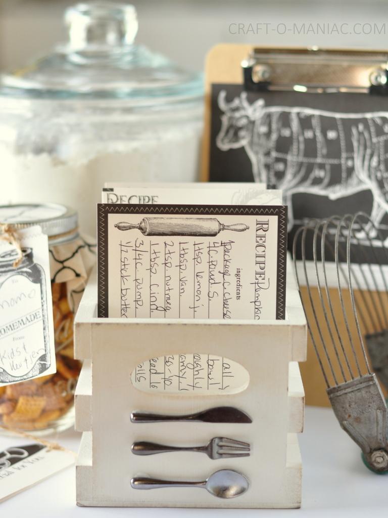 diy recipe box and stuff