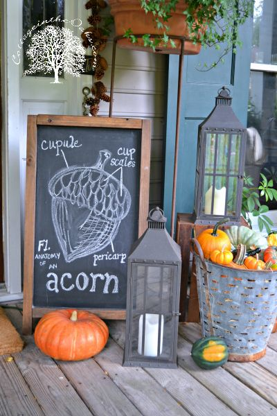 fall decor fall chalkboard