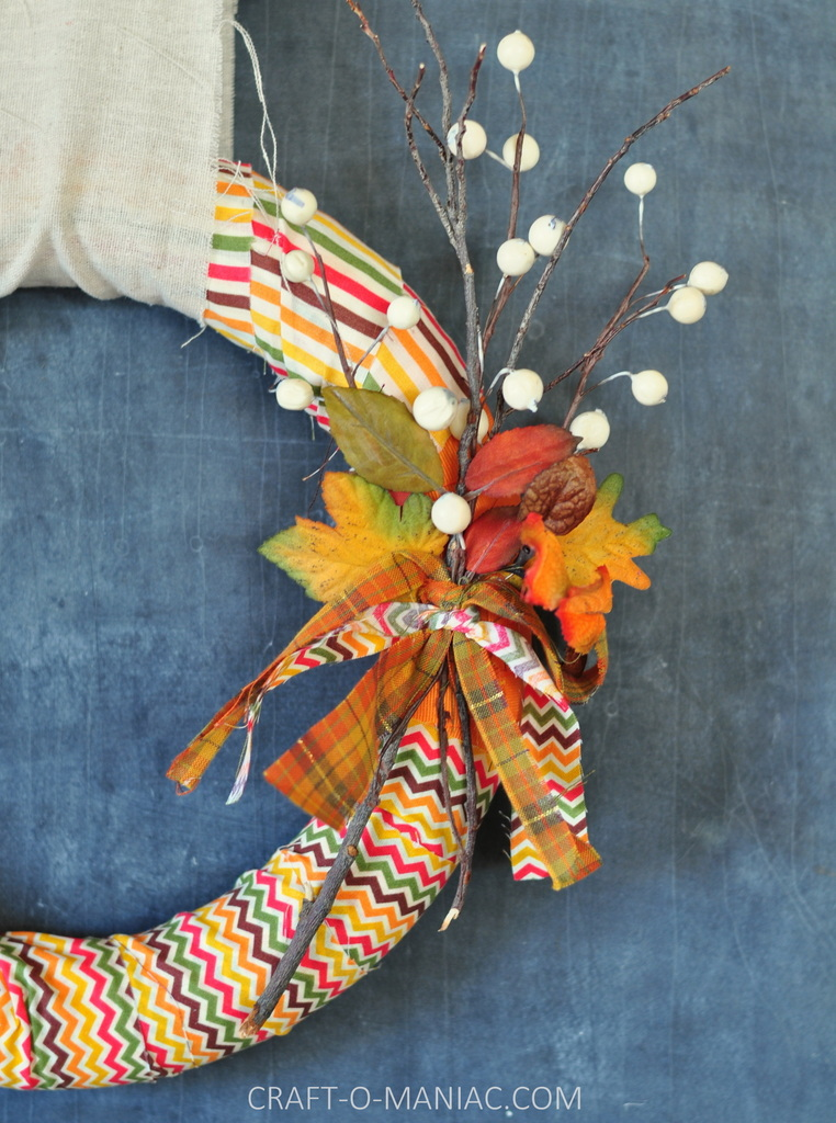fall fabric and twig wreath1