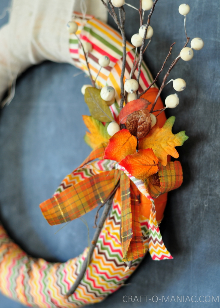 fall fabric and twig wreath6
