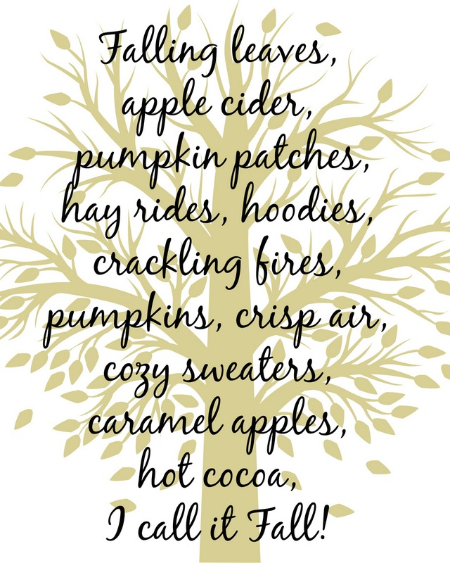 fall tree printable beige