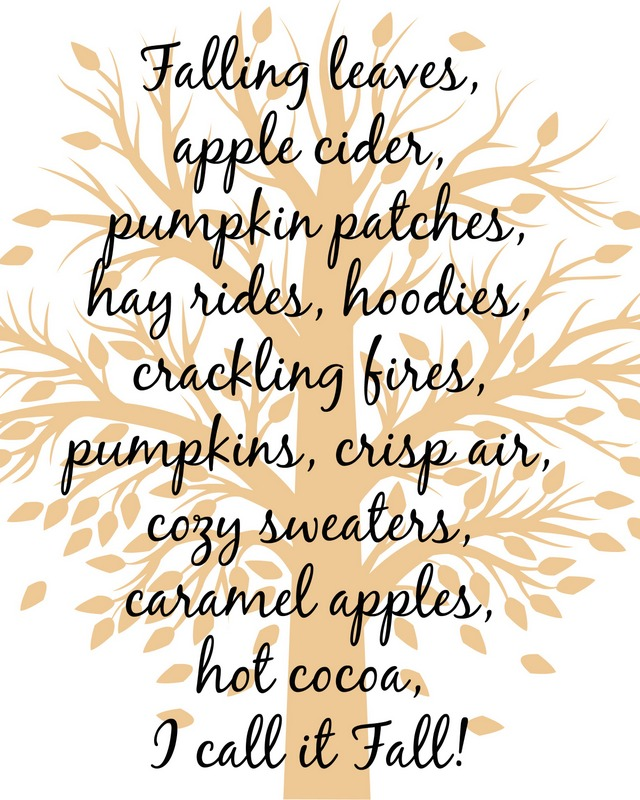 fall tree printable orangeish